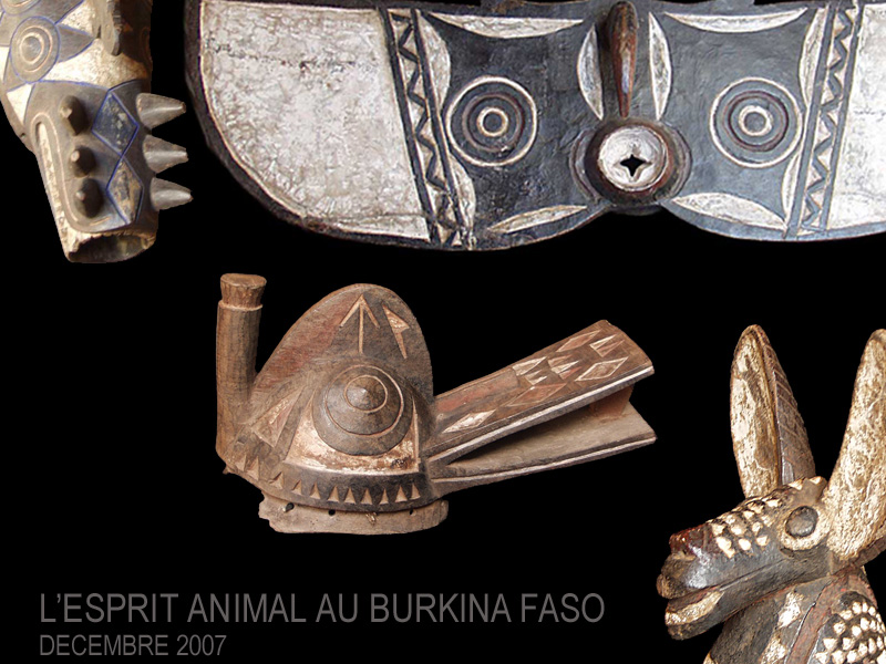 Image Animals-masks from the Burkina Faso
