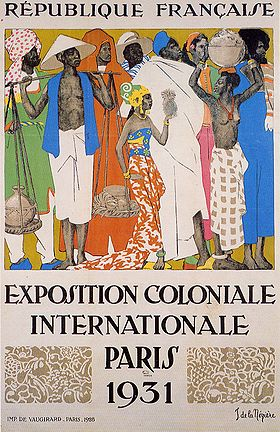 Image exposition coloniale ou zoo humain