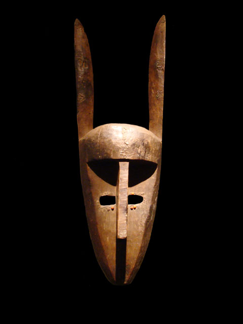 Hare-shaped mask, Bambara, Mali