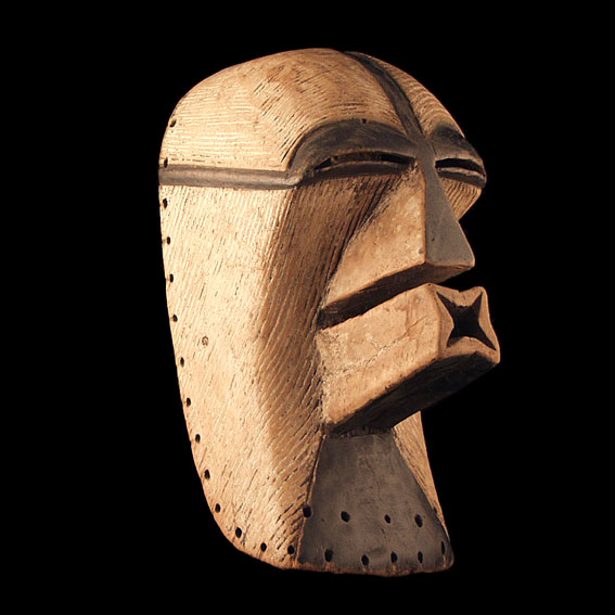 Female Kifwebe mask, Songye, Democratic Republic of Congo